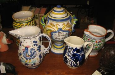 Vases, Pitchers and Porcelain Ware
